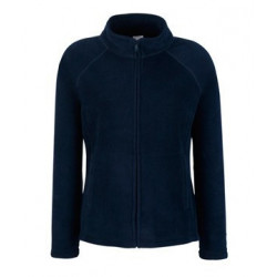 Pile donna zip lunga Fruit of the Loom,100% poliestere tessuto resistente al pilling, colore blu notte